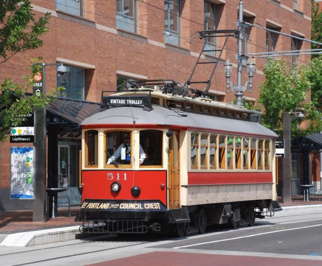 Portland Vintage Trolley at PSU