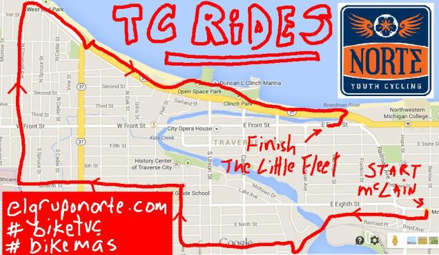 TC RIDES MAP